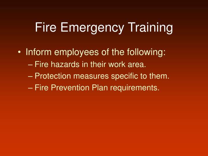 Fire Emergency Training