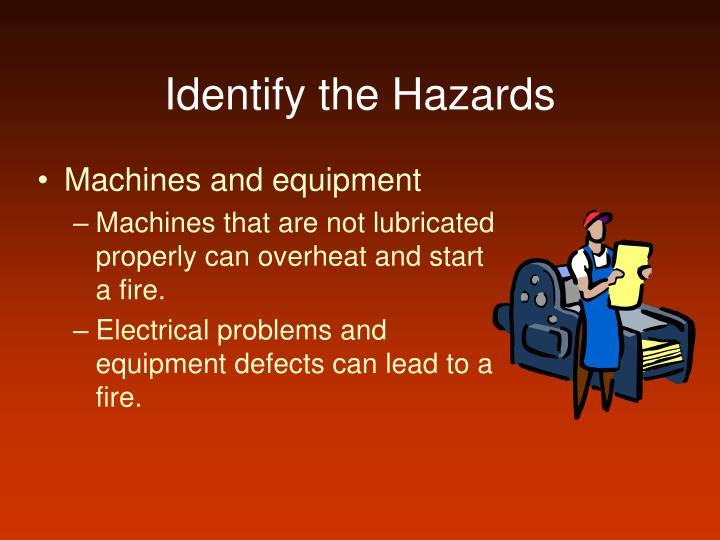 Identify the Hazards