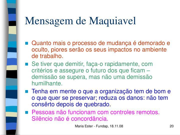 Mensagem de Maquiavel