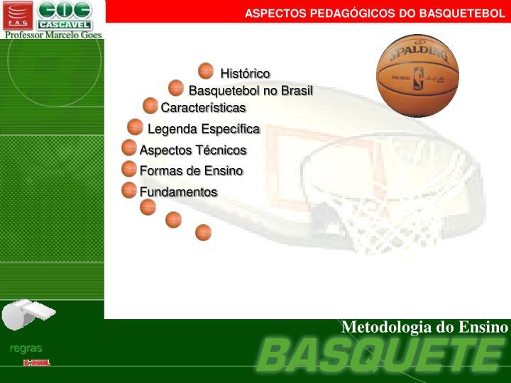 ASPECTOS PEDAGÓGICOS DO BASQUETEBOL