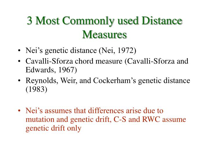 3 Most Commonly used Distance Measures