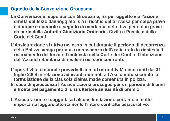 Oggetto della Convenzione Groupama