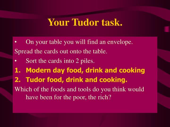 Your Tudor task.