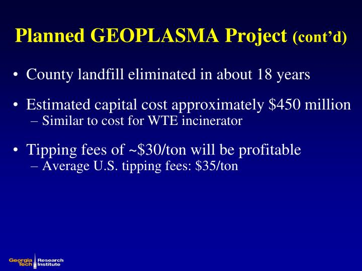 Planned GEOPLASMA Project