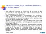 nfpa 780 standard for the installation of lightning protection systems1