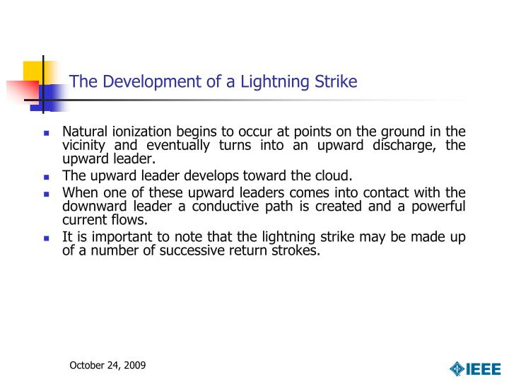 The Development of a Lightning Strike