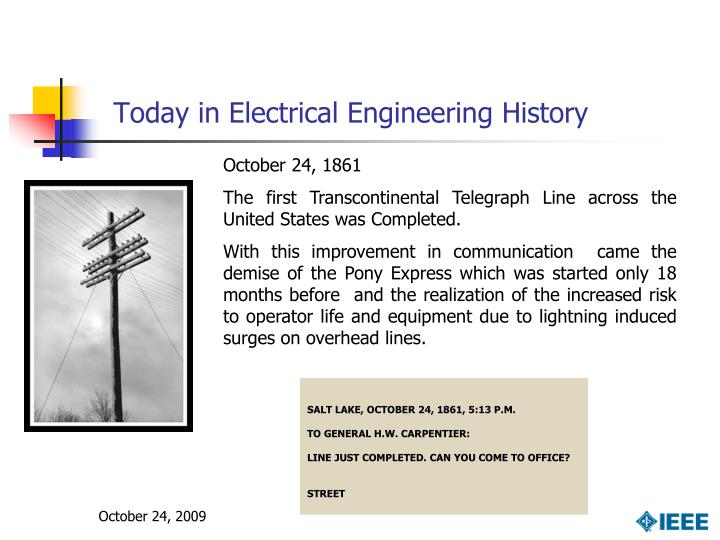 Today in electrical engineering history