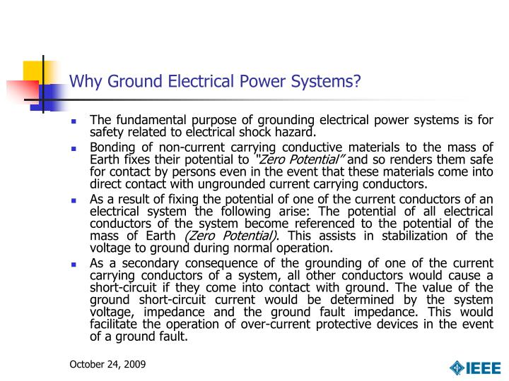 Why Ground Electrical Power Systems?