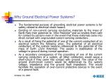why ground electrical power systems