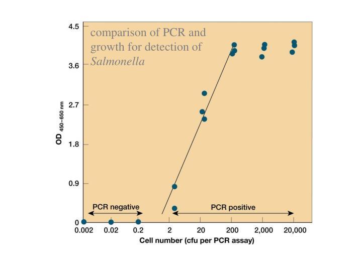 comparison of PCR and