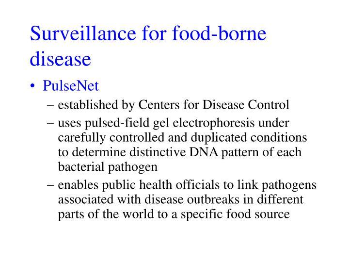 Surveillance for food-borne