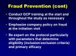 fraud prevention cont