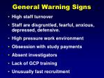 general warning signs