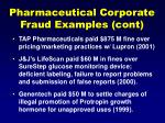 pharmaceutical corporate fraud examples cont