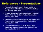 references presentations