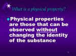 what is a physical property