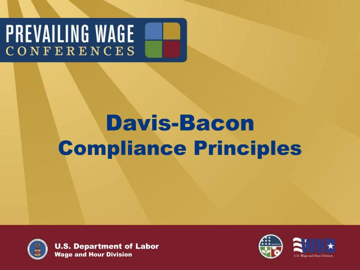 Davis bacon compliance principles