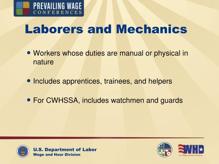 Laborers and mechanics