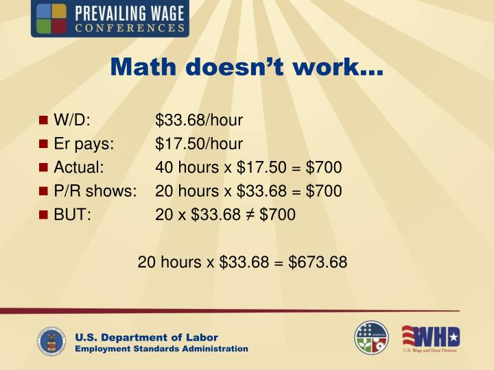 Math doesn't work…