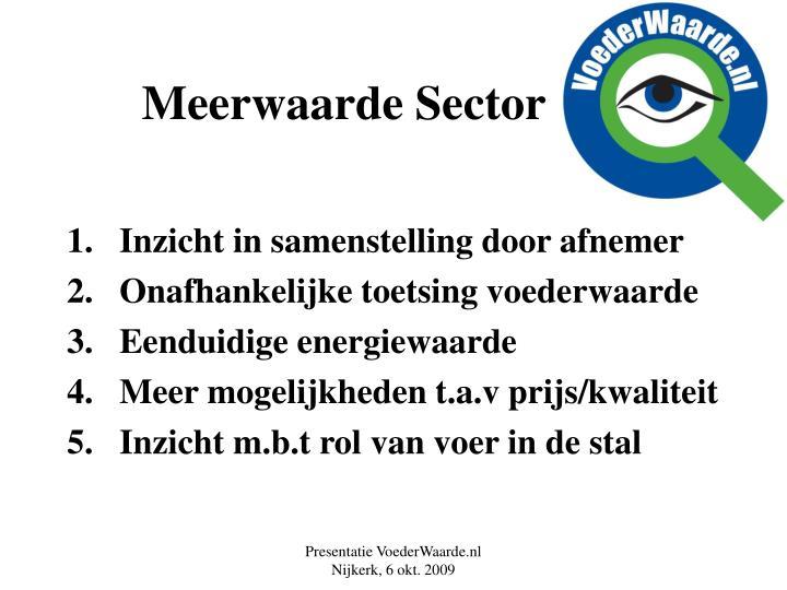Meerwaarde Sector