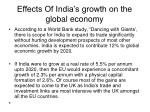 effects of india s growth on the global economy