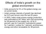 effects of india s growth on the global environment