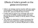 effects of india s growth on the global environment1