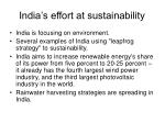 india s effort at sustainability