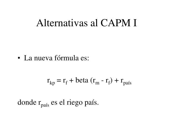 Alternativas al CAPM I