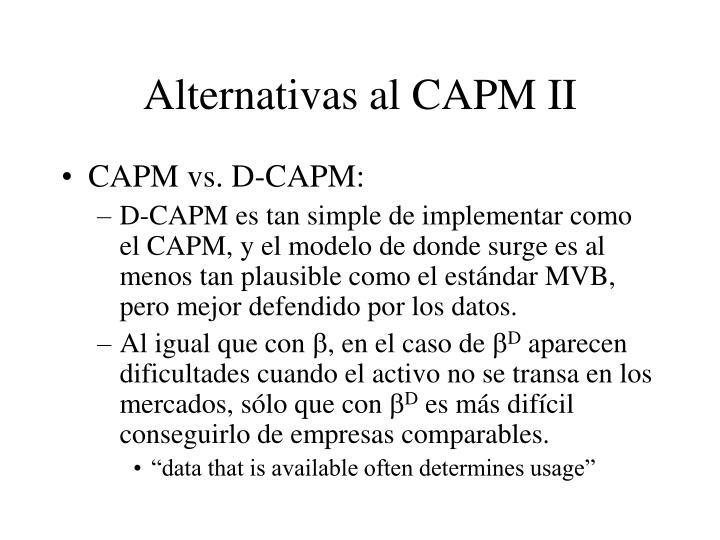 Alternativas al CAPM II