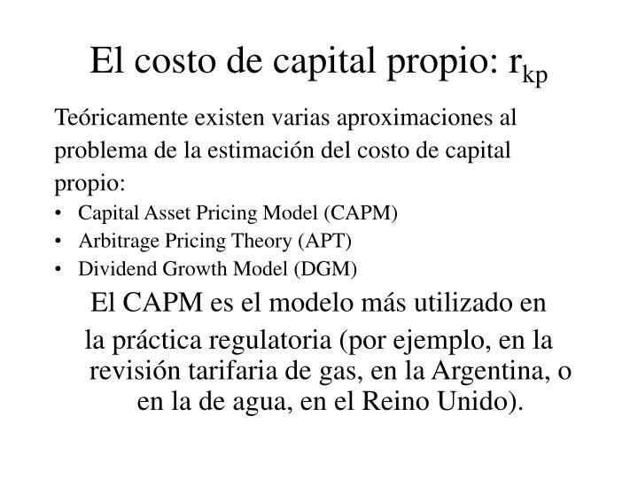 El costo de capital propio: