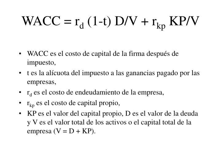 WACC =