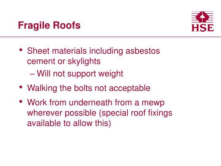 Fragile Roofs
