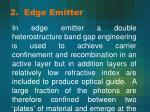 2 edge emitter