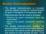 double heterostructure