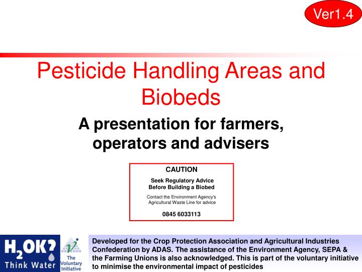Pesticide handling areas and biobeds
