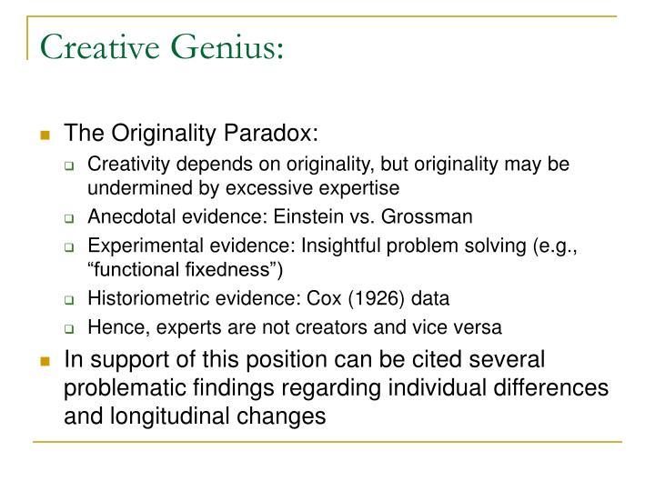 Creative Genius: