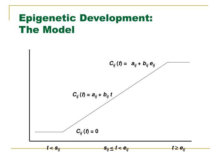 Epigenetic Development:
