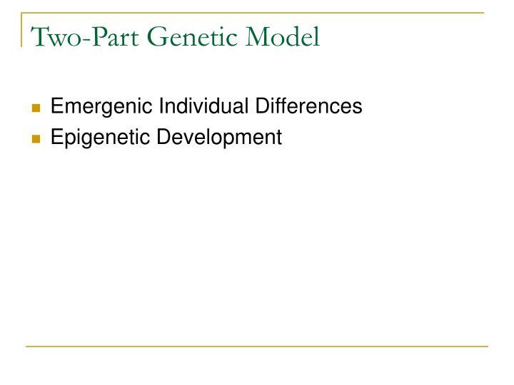 Two-Part Genetic Model