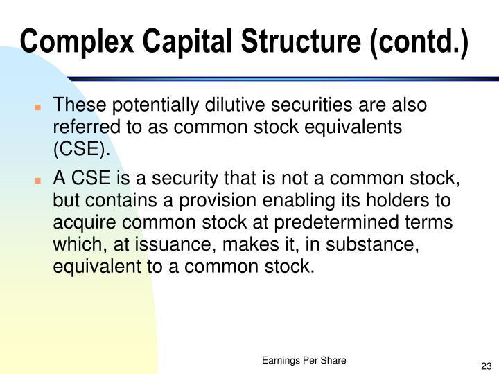 Complex Capital Structure (contd.)