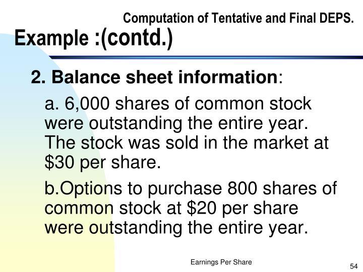 Computation of Tentative and Final DEPS.