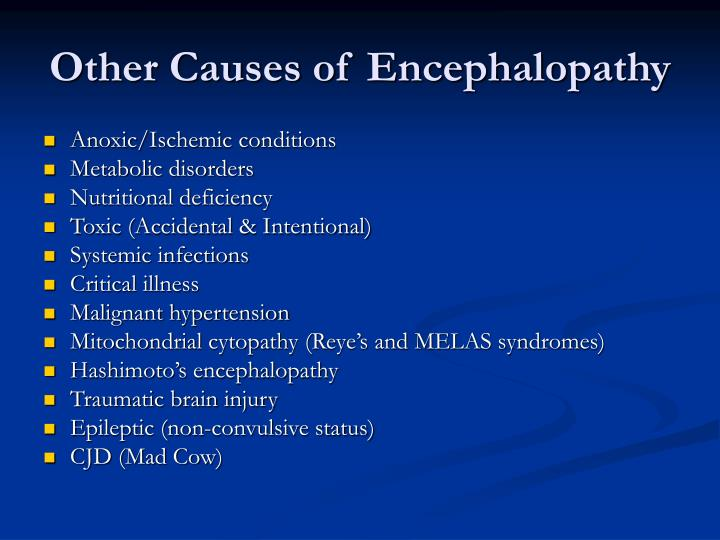 Other Causes of Encephalopathy