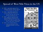 spread of west nile virus in the us