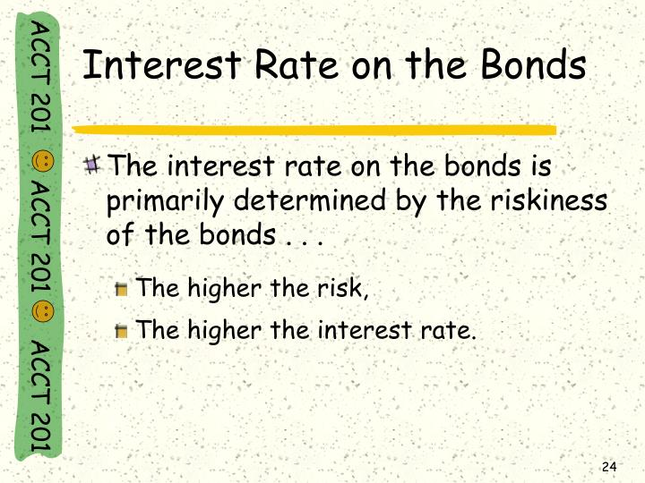 Interest Rate on the Bonds