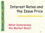 interest rates and the issue price1