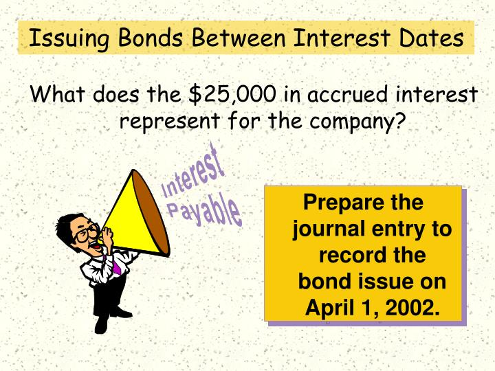 Prepare the journal entry to record the  bond issue on April 1, 2002.