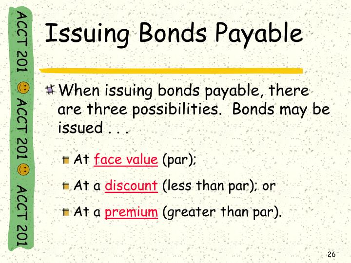 Issuing Bonds Payable