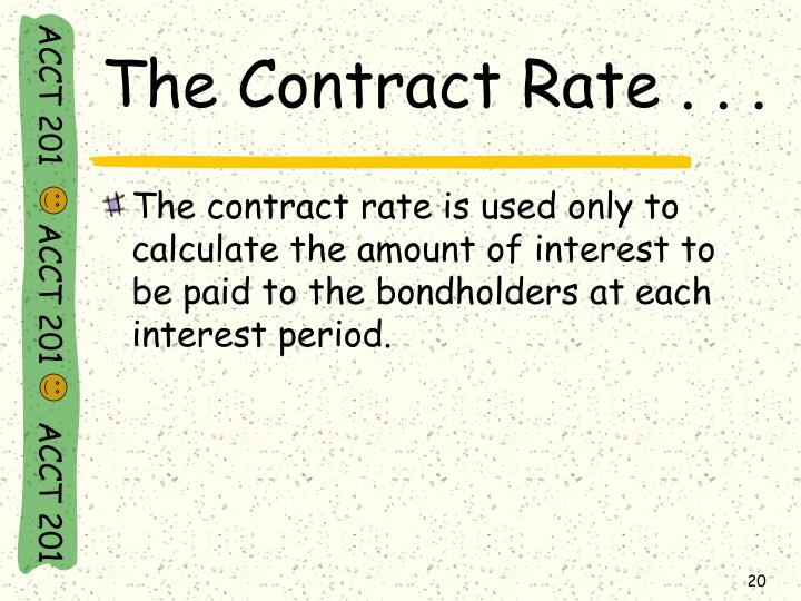 The Contract Rate . . .