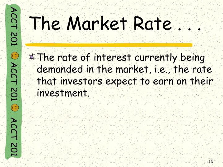 The Market Rate . . .