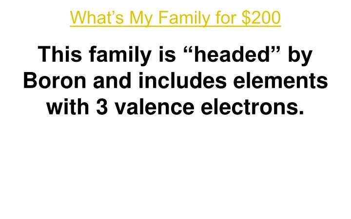 What's My Family for $200